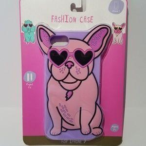 Iphone 7-8 case Fashion Pink French Bulldog Love